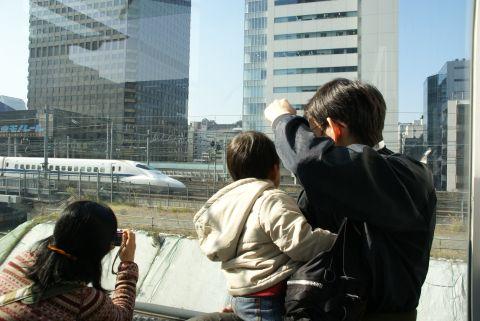 一家で新幹線!