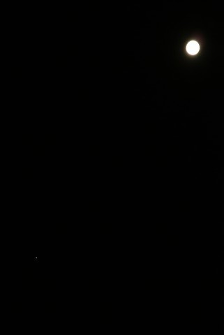 立待月と木星