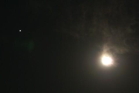 月光冠と木星