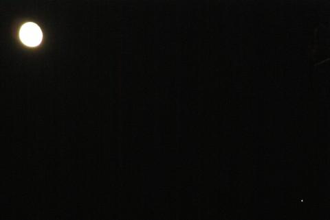 居待月と木星
