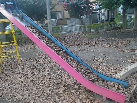 落葉の滑り台