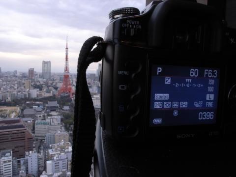 東京タワーを狙うα100