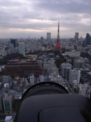 東京タワーを眺めて
