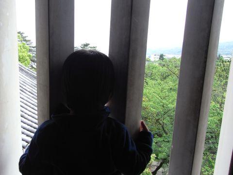 小田原城内から眺める