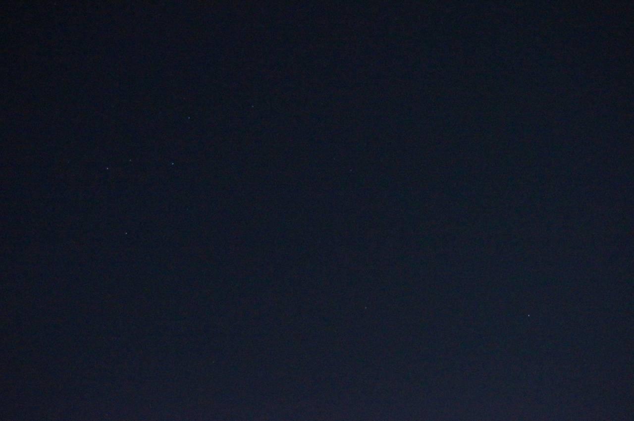 カシオペア座と北極星