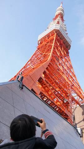 東京タワーの真下