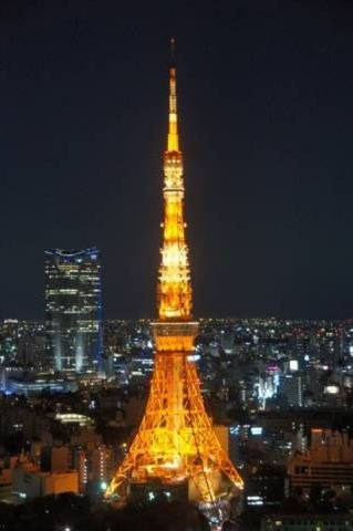 通常ライトアップの東京タワー