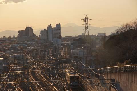 富士山と東急線