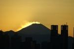 すごいよぉ、富士山が燃えてるように見える!
