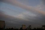 秋色空と冬色雲のせめぎ合い