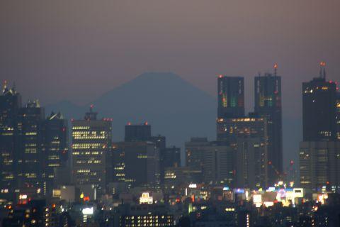 富士山と都庁