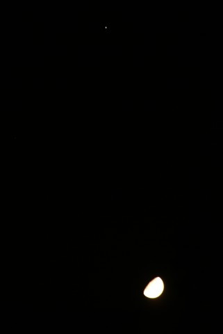 木星と十日月