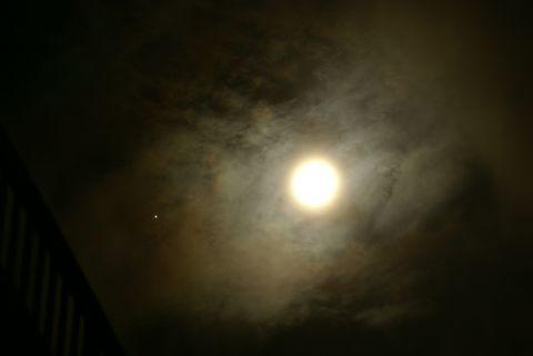 木星と満月