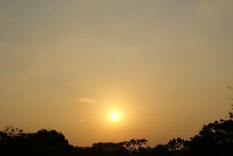 立冬の夕日