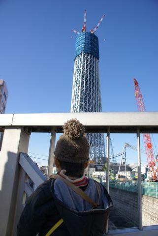 東京スカイツリー見物