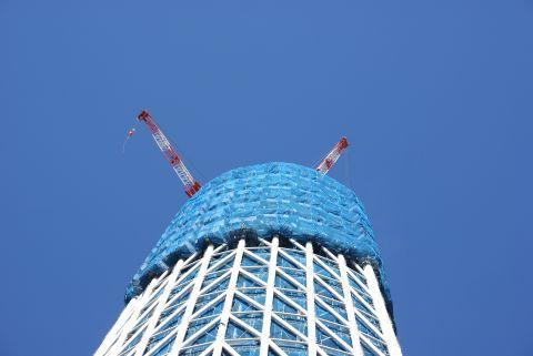 東京スカイツリーのクレーン