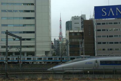 東京タワーと500系