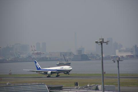 飛行機と東京スカイツリー