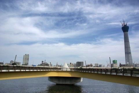 桜橋と東京スカイツリー:α100