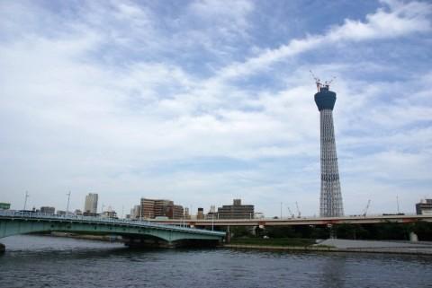 東京スカイツリー・言問橋遠望:α100