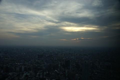 都庁展望室からの夕景