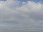 虹をアップで!
