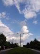 にわかに急成長する雲。怪しい雲行き