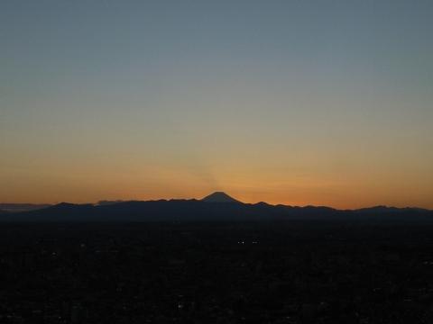 たたずむ富士山