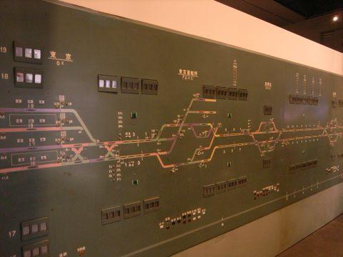 新幹線総合指令所のCTC表示盤