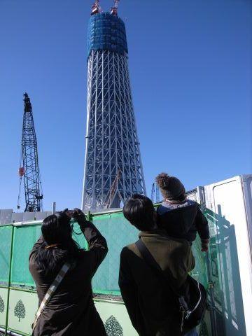 悠真一家と東京スカイツリー