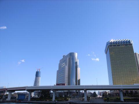 隅田川から見た東京スカイツリー
