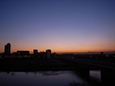 富士山・夕景