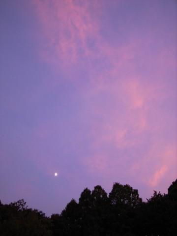 あかね雲と九夜月