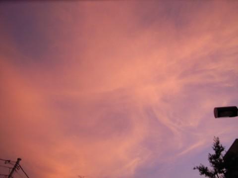 真っ赤な空