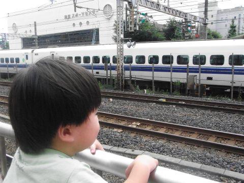 悠真の初新幹線見物