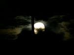 月明かりで雲が鳥のように